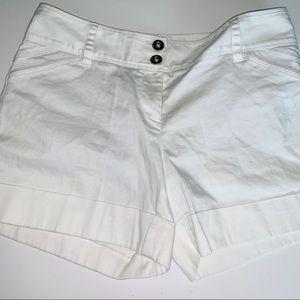 White House Black Market White Shorts